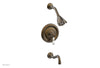 HENRI Pressure Balance Tub and Shower Set - White Marble Lever Handle 161-28