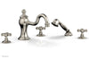 MARVELLE Deck Tub Set with Hand Shower - Cross Handles 162-48