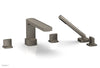 RADI Deck Tub Set with Hand Shower - Blade Handles 181-48