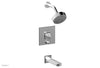 DIAMA Pressure Balance Tub and Shower Set - Blade Handle 184-26