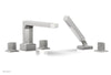 DIAMA Deck Tub Set with Hand Shower - Blade Handles 184-48