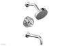 WORKS Pressure Balance Tub and Shower Set - Cross Handle 220-26