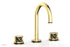 "JOLIE Widespread Faucet - Round Handles with ""Black"" Accents 222-01"