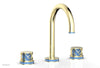 "JOLIE Widespread Faucet - Round Handles with ""Light Blue"" Accents 222-01"
