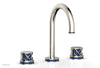 "JOLIE Widespread Faucet - Round Handles with ""Navy Blue"" Accents 222-01"