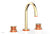 "JOLIE Widespread Faucet - Round Handles with ""Orange"" Accents 222-01     **PRE-ORDER NOW FOR APRIL 2019 SHIPPING**"