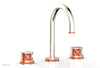 "JOLIE Widespread Faucet - Round Handles with ""Orange"" Accents 222-01"