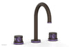 "JOLIE Widespread Faucet - Round Handles with ""Purple"" Accents 222-01"