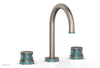 "JOLIE Widespread Faucet - Round Handles with ""Turqoise"" Accents 222-01"