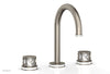 "JOLIE Widespread Faucet - Round Handles with ""White"" Accents 222-01"