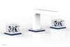 "JOLIE Widespread Faucet - Square Handles with ""Navy Blue"" Accents 222-02"