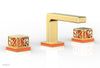 "JOLIE Widespread Faucet - Square Handles with ""Orange"" Accents 222-02"