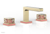 "JOLIE Widespread Faucet - Square Handles with ""Pink"" Accents 222-02"