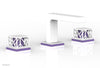 "JOLIE Widespread Faucet - Square Handles with ""Purple"" Accents 222-02"