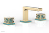 "JOLIE Widespread Faucet - Square Handles with ""Turqoise"" Accents 222-02     **PRE-ORDER NOW FOR APRIL 2019 SHIPPING**"