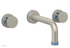 "JOLIE Wall Lavatory Set - Round Handles with ""Light Blue"" Accents 222-11"