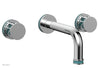 "JOLIE Wall Lavatory Set - Round Handles with ""Turquoise"" Accents 222-11"