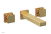 "JOLIE Wall Tub Set - Square Handles with ""Orange"" Accents 222-57"