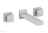 "JOLIE Wall Lavatory Set - Square Handles with ""Orange"" Accents 222-12"