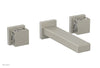 "JOLIE Wall Tub Set - Square Handles with ""White"" Accents 222-57"