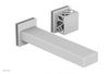 "JOLIE Single Handle Wall Lavatory Set - Square Handle ""Grey"" Accents 222-16"