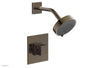 "JOLIE Pressure Balance Shower Set - Square Handle with ""Purple"" Accents 222-22"