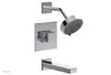 "JOLIE Pressure Balance Tub and Shower Set - Square Handle wth ""Purple"" Accents 222-27"