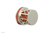 "JOLIE Volume Control/Diverter Trim - Round Handle with ""Orange"" Accents 222-35"