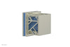 "JOLIE Volume Control/Diverter Trim - Square Handle with ""Light Blue"" Accents 222-36"