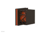 "JOLIE Volume Control/Diverter Trim - Square Handle with ""Orange"" Accents 222-36"