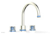 "JOLIE Deck Tub Set - Round Handles with ""Light Blue"" Accents 222-40"