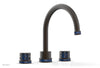 "JOLIE Deck Tub Set - Round Handles with ""Navy Blue"" Accents 222-40"