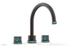 "JOLIE Deck Tub Set - Round Handles with ""Turquoise"" Accents 222-40"