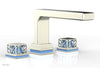"JOLIE Deck Tub Set - Square Handles with ""Light Blue"" Accents 222-41"