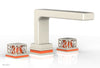 "JOLIE Deck Tub Set - Square Handles with ""Orange"" Accents 222-41"