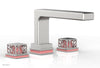 "JOLIE Deck Tub Set - Square Handles with ""Pink"" Accents 222-41"