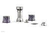 "JOLIE Four Hole Bidet Set - Round Handles with ""Purple Accents"" 222-60"