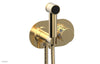 "JOLIE Wall Mounted Bidet, Round Handle with ""White"" Accents 222-64"