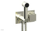 "JOLIE Wall Mounted Bidet, Square Handle with ""Grey"" Accents 222-65"