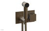 "JOLIE Wall Mounted Bidet, Square Handle with ""Light Blue"" Accents 222-65"