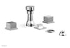 STRIA Four Hole Bidet Set - Cube Handles 291-63