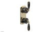 VALENCIA - Thermostatic Valve with Volume Control or Diverter, Black Marble Lever Handles 4-453C