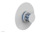 "JOLIE Pressure Balance Shower Plate & Handle Trim, Round Handle with ""Light Blue"" Accents 4-592"