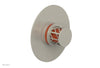 "JOLIE - Thermostatic Shower Trim, Round Handle with ""Orange"" Accents 4-592"