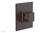 "JOLIE - Thermostatic Shower Trim, Square Handle with ""Pink"" Accents 4-593"