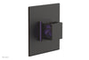 "JOLIE Pressure Balance Shower Plate & Handle Trim, Square Handle with ""Purple"" Accents 4-593"