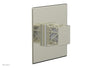 "JOLIE Pressure Balance Shower Plate & Handle Trim, Square Handle with ""White"" Accents 4-593"