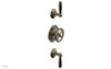 "WORKS 3/4"" Thermostatic Valve with Two Volume Control, Lever Handles 4-613"