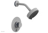 "JOLIE Pressure Balance Shower and Diverter Set (Less Spout), Round Handle with ""Navy Blue"" Accents 4-677"