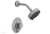 "JOLIE Pressure Balance Shower and Diverter Set (Less Spout), Round Handle with ""Turquoise"" Accents 4-677"